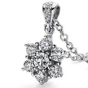 4 carats Prong setting ROUND diamond necklace pend